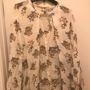 Free People Floral Tunic Size L